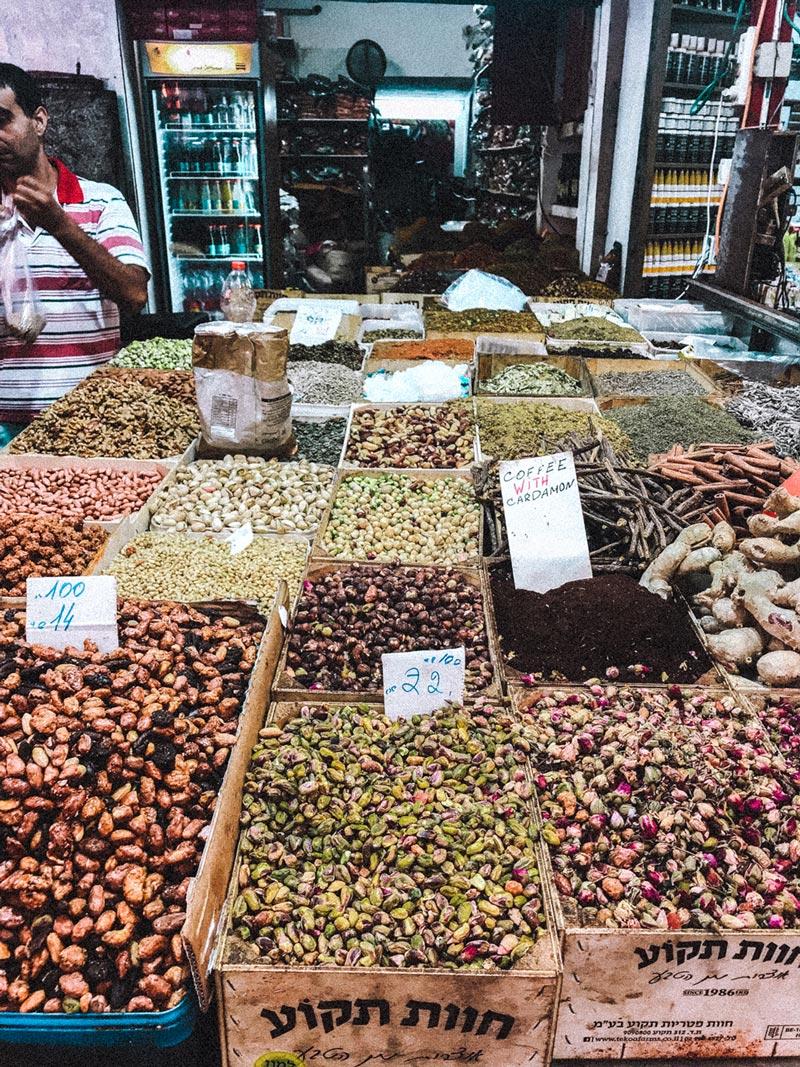 carmel-market-tel-aviv-nuts-sweets