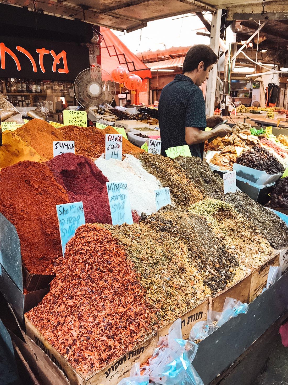 carmel-market-tel-aviv-spices-israel
