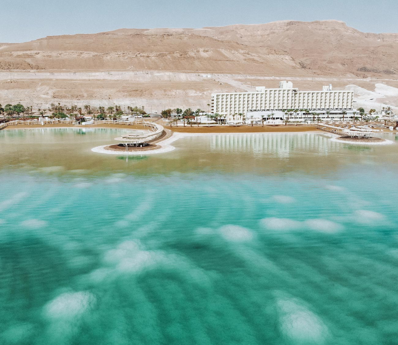 dead-sea-israel-side-drone-view-hotels