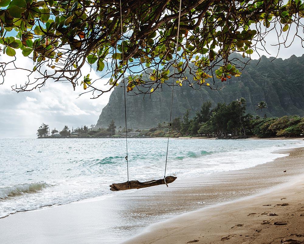 kaaawa-beach-oahu-hawaii-swing
